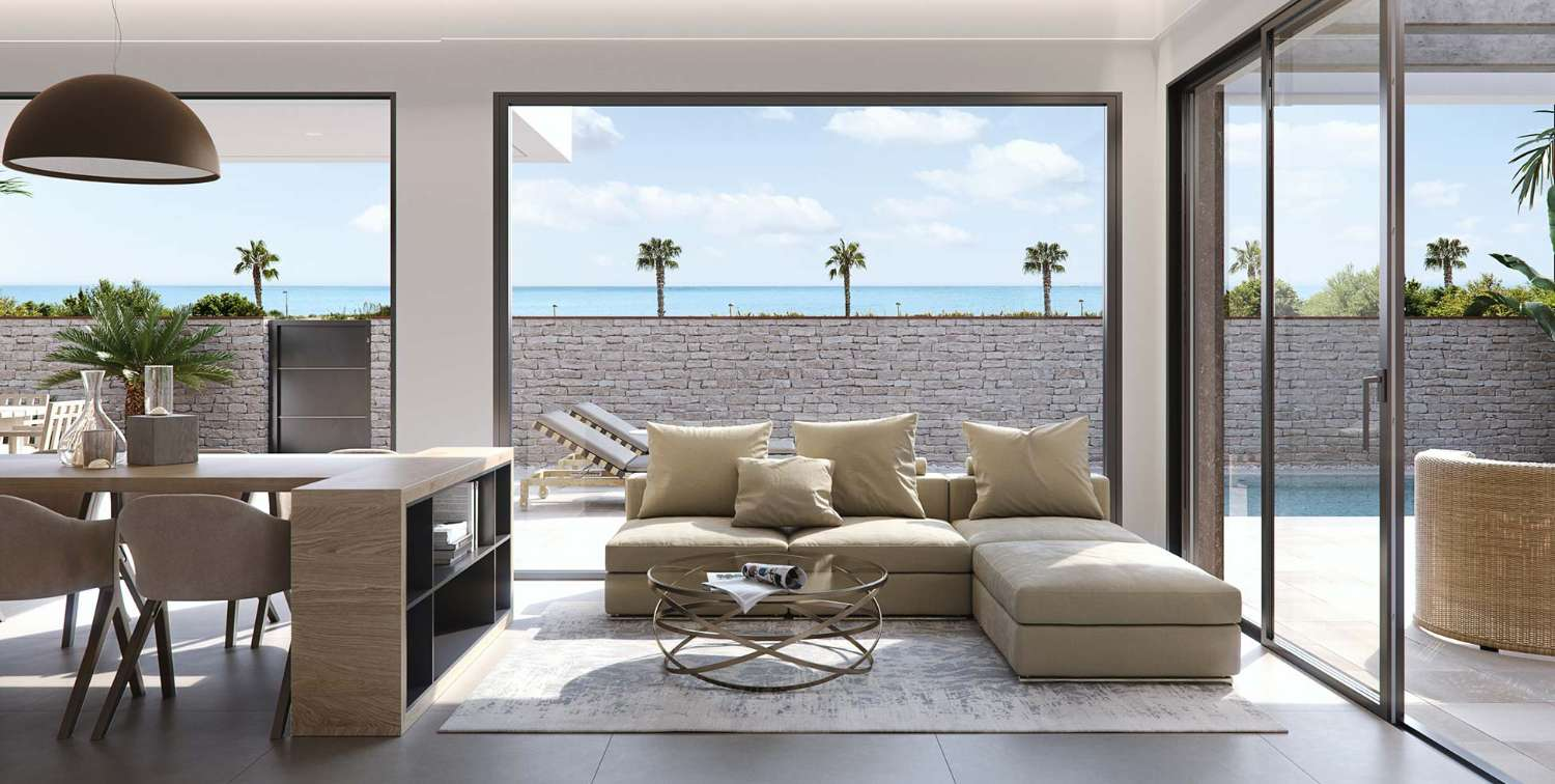 Stunning new build 3 bedroom modern detached villas with private pool 2nd line of beach in Torre de la Horadada