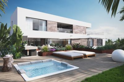Amazing new build 5 bedroom contemporary villa with priv...