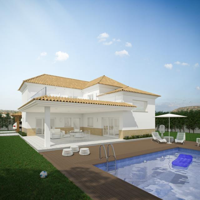Lovely 'New Build' Mediterranean style 4 bedroom detached villa with private pool in Pinoso