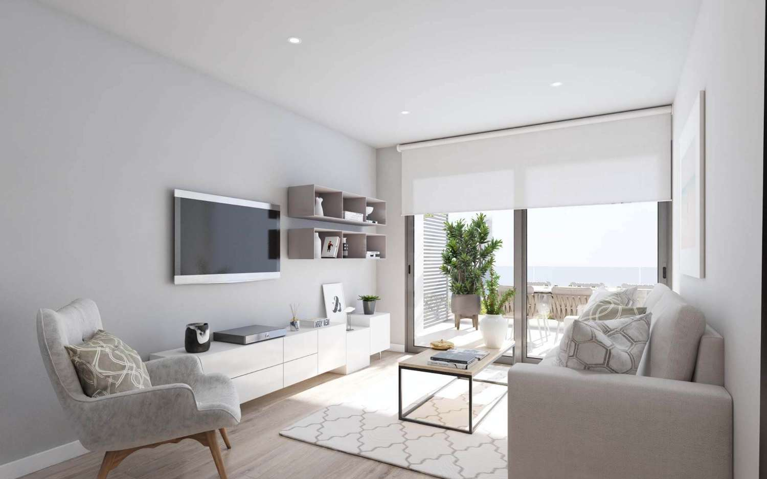 Beautiful 'New Build' modern 3 bedroom penthouse with solarium and communal pool in Gran Alacant, Santa Pola