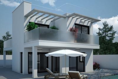 Impressive 'New Build' 3 bedroom detached villa with pri...